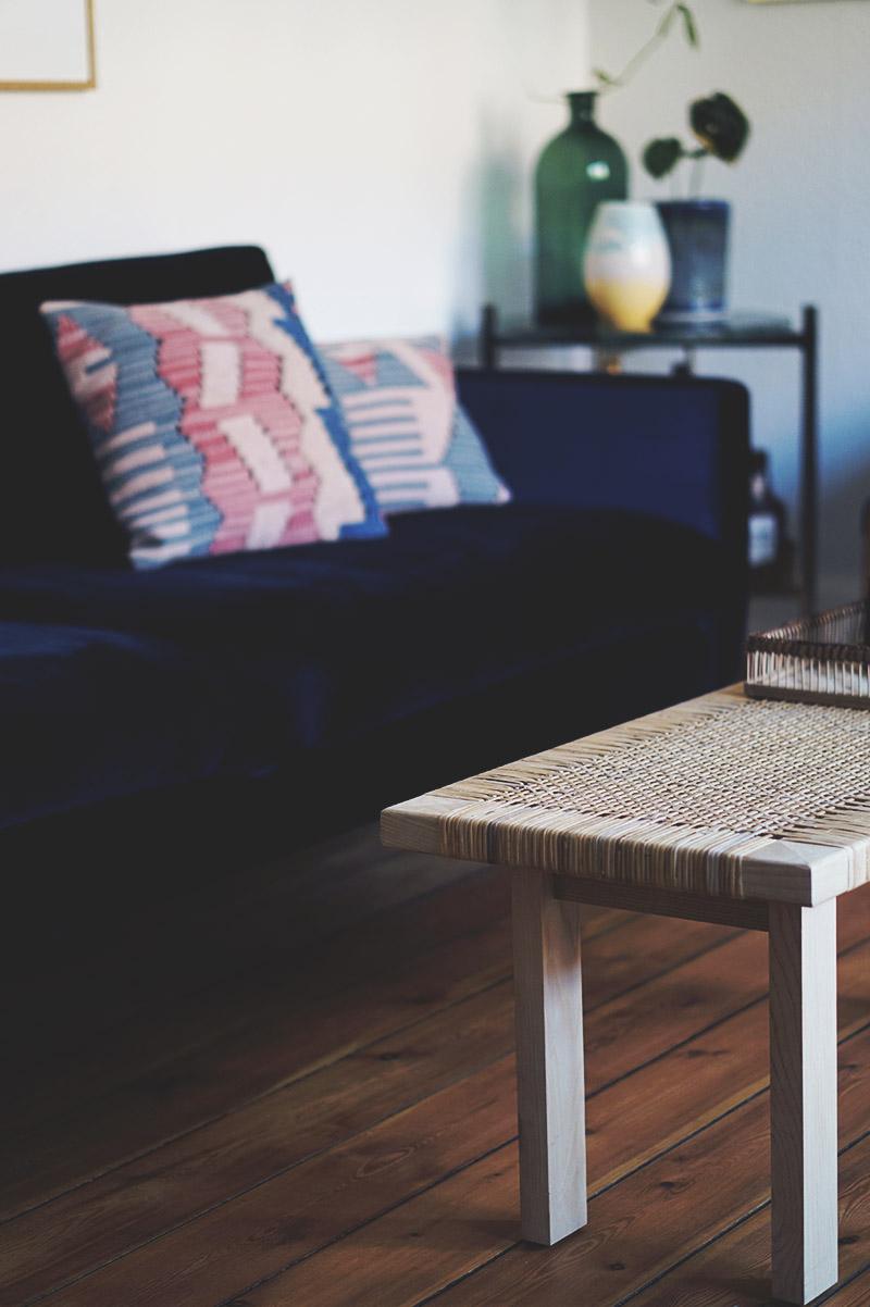 Interiør: Vores blå <strong>velour sofa</strong> fra Sofakompagniet 1