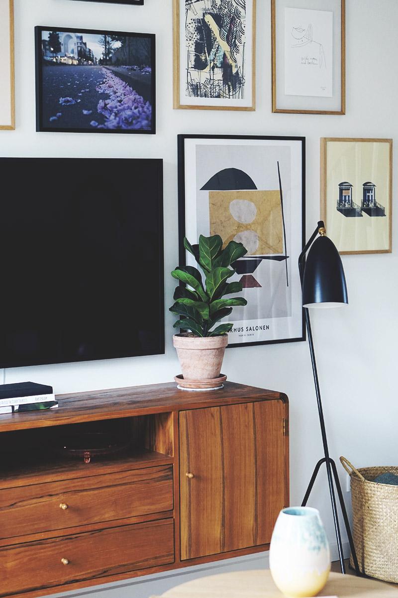 Stue: Sådan får du <strong>tv'et</strong> til at blive en del af indretningen 9