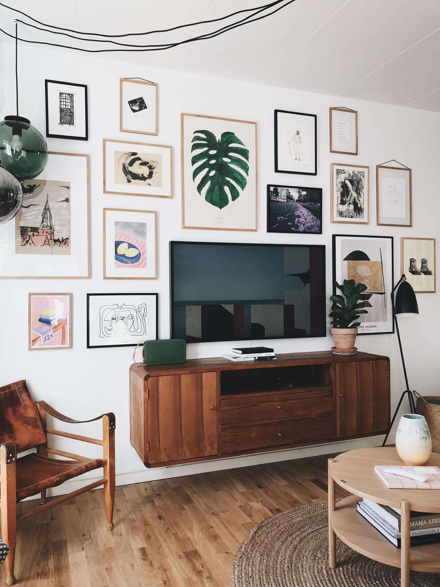 Stue: Sådan får du <strong>tv'et</strong> til at blive en del af indretningen 11