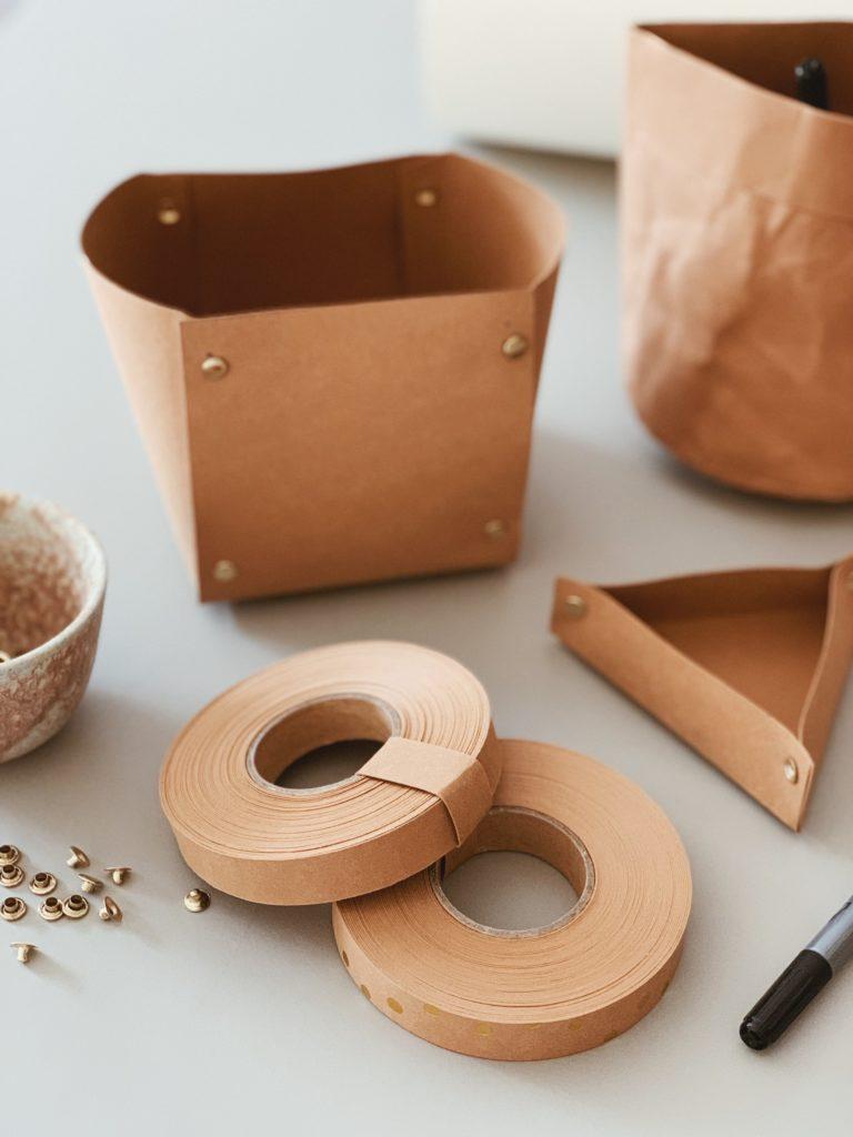 DIY: <strong>Kontor detaljer</strong> med læderpapir 9