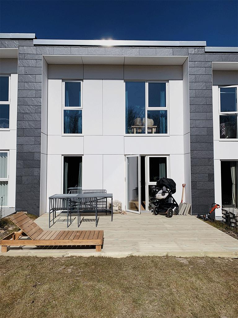 Træ terrasse færdig resultat