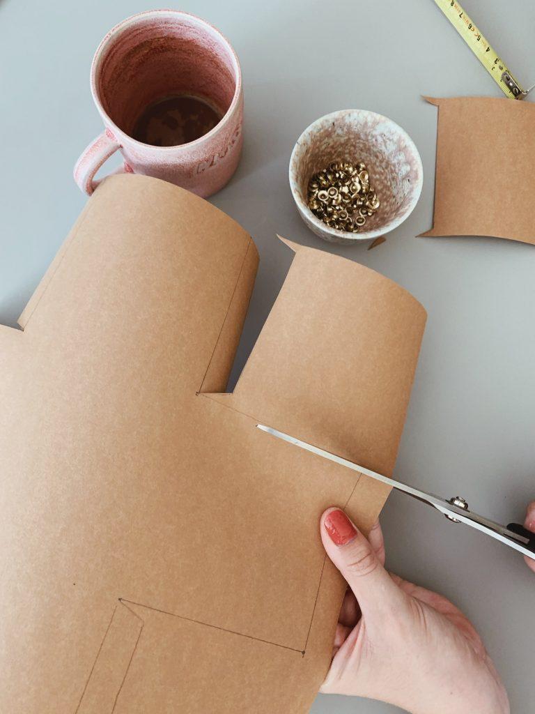 DIY: <strong>Kontor detaljer</strong> med læderpapir 2