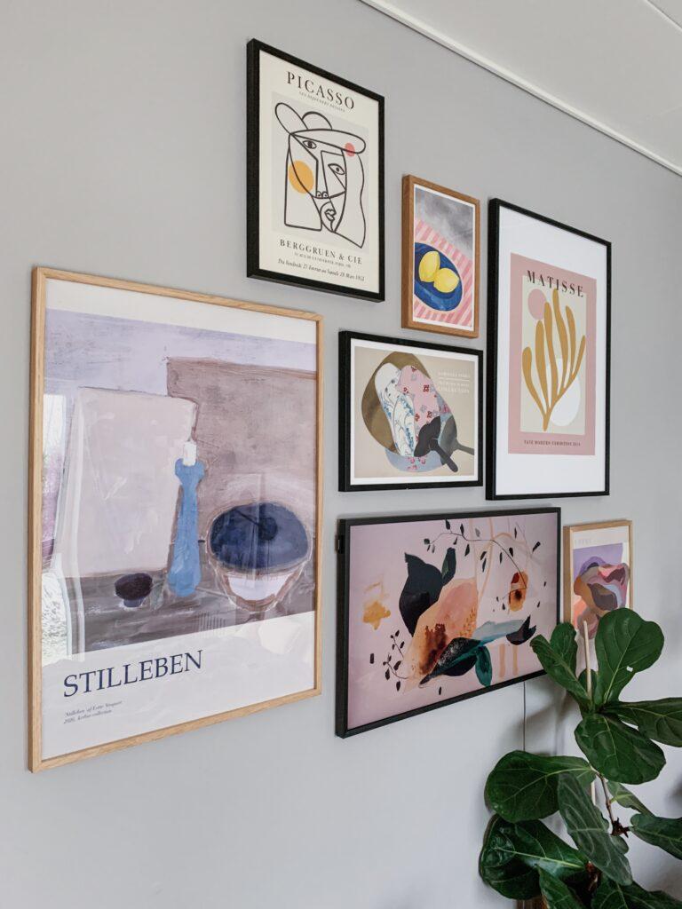 Vores <strong>billedvægge</strong> og en oversigt over hvor jeg finder kunst og plakater 11