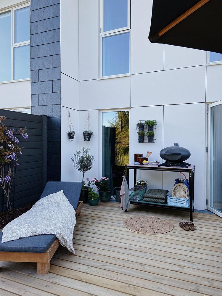 Indretning træ terrasse